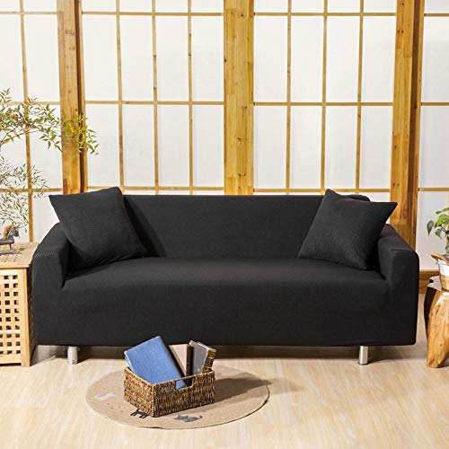 HXTSWGS Thick Sofabezüge 3-Sitzer,Sofa Cover 1/2/3/4 seat, solid Color Sofa Protective Cover, Elastic Fabric Stretch Sofa Cover-Color2_145-185cm