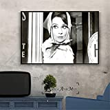 sanzangtang Actriz Vintage póster de película decoración Pintura-Pintura sin marco60X90cm