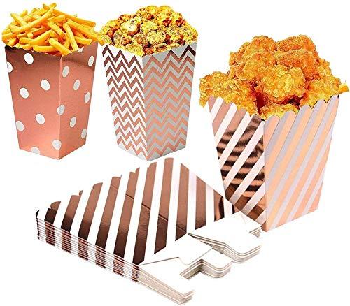 A-Generic Popcorn Box Popcorn Container Candy Container para bocadillos de Fiesta Sweet Wedding Bag Sweet Christmas Popcorn contenedor (36pezzi)