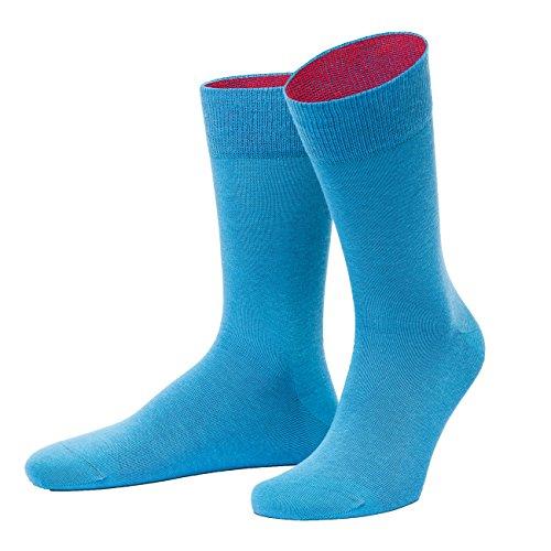 von Jungfeld - Herren Socken/Strumpf Herrensocken Baumwolle 1 Paar 42-44 blau