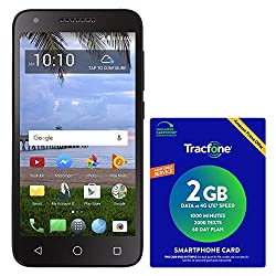 powerful TracFone TCL LX 4G LTE prepaid smartphone with Amazon Airtime package worth $ 40