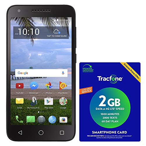 top 10 tracfone horoscope TracFone TCL LX 4G LTE prepaid smartphone with Amazon Airtime package worth $ 40