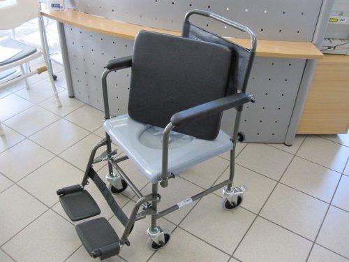 Toilettenstuhl fahrbar H720T von AQUATEC INVACARE Toilettenrollstuhl Rollstuhl