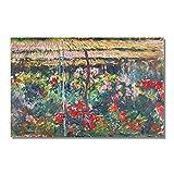 Poster E Impresiones Del JardíN De La PeoníA De Claude Monet Obra De Arte Famosa Pintura En Lienzo C...