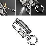 Permanent Match Keychain Flashlight Lighter Waterproof Forever Match EDC Emergency Survival Fire Starter,Black Nickel