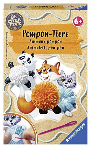 Ravensburger 18063 Be Creative Pompon-Tiere, DIY für Kinder ab 6 Jahren