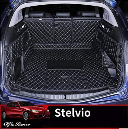 mächtig HCDSUSN Für Alfa Romeo Stilfserjoch 2017 2018 2019 Auto Gepäckmatte Vollleder Heckkoffer Liner Tray…