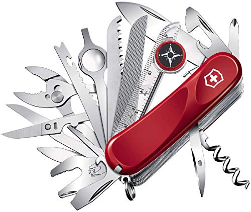 Victorinox zakmes Evolution S54 (32 functies, ergonomische handgreep, vergrendelingsmes) rood