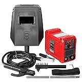 JEVX Mini Soldador Inverter 225A Tecnologia IGBT Corriente Continua DC MMA Pantalla Incluye 4 Electrodos, Careta, Cepillo - Piqueta, Pinza Negativo, Pinza Porta Electrodo