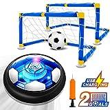 Kids Game Toys Hover Soccer Ball Set Rechargeable Air Soccer with 2 Goals, Air Soccer with LED Light, USB...