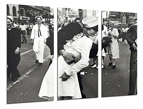 Poster Fotográfico Beso, Enfermera y Marinero, Blanco y Negro, Vintage Tamaño total: 97 x 62 cm XXL