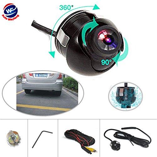 Auto Wayfeng WF Universal cámara de visión trasera para coche 360 grados ajustable HD color de visión nocturna para estacionamiento Monitor DVD