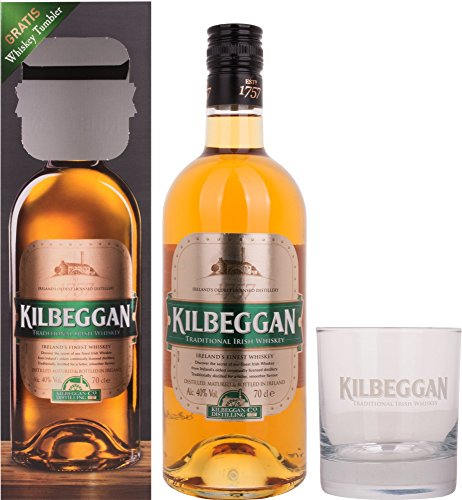 Kilbeggan Traditional Irish Whiskey, mit Glas, 40% Vol, 1 x 0,7l