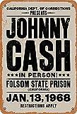 DT Poster Johnny Cash Retro Metalldose Logo Rockmusik