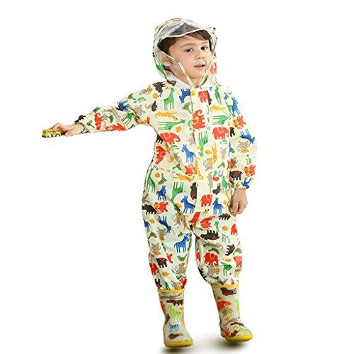 Vestes anti-pluie QFF Child Raincoat Boys and Girls Baby Siamese Raincoat Student Poncho (Couleur : #2, Taille : L)