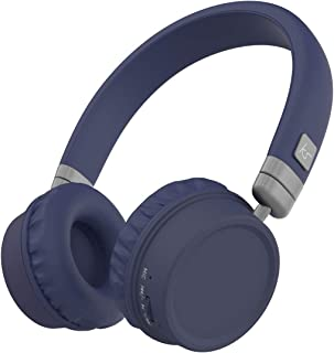 KitSound Harlem Wireless Bluetooth On-Ear Headphones with Mic - Blue
