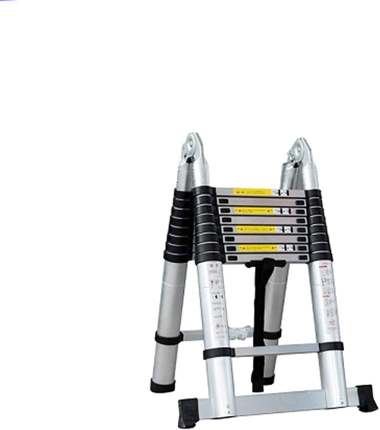 Rong Portable Telescopic Ladder  Aluminum Extension Extended Trapezoidal Folding Ladder, Maximum Load 330lbs Aluminum Ladder, In Line With En131 And Ce Standards,2M+2M