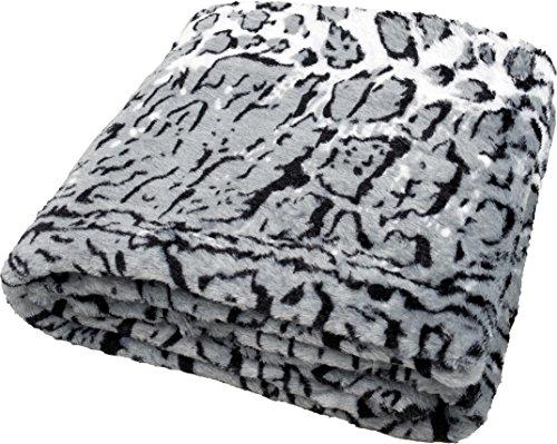 daydream Kuscheldecke aus Kunstfell/Faux Fur Double Polyester Schnee-Leoparden-Decke 33 x 31 x 12 cm (K-9002)