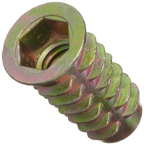 """E-Z LOK - 903816-25 E-Z Lok Threaded Insert, Zinc, Hex-Flanged, 3/8""""-16 Internal Threads, 25mm Length (Pack of 25)"""