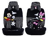 Maimai88 New 1 Set of Cute Cartoon Mickey Mouse Universal car Cover Super Soft Four Seasons Cartoon car seat Cover Accessories car (Black dot 803)