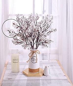 KAHAUL Gypsophila Artificial Flowers Babys Breath Silk Fake Bush Flowers Bouquet Floral Arrangement Home Wedding Party Decorations Decor  6 Pack   White