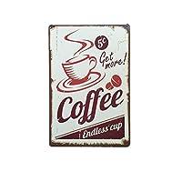 COFFEE ヴィンテージ ティン サイン バー/パブ/カフェ 壁 装飾 レトロ メタル アート ポスター 全10種類選べる - ポスター03