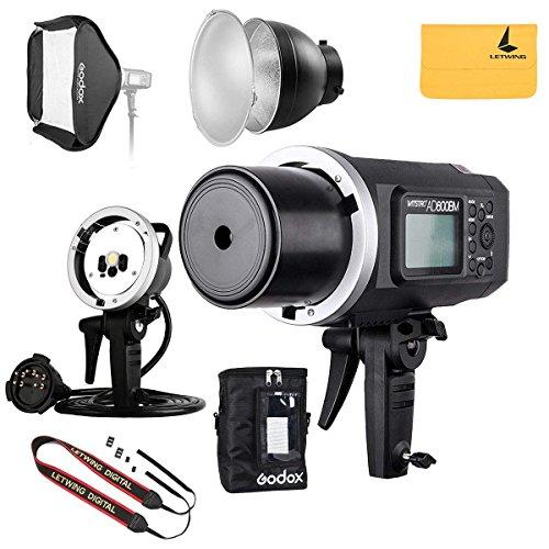 GODOX AD600BM 600Ws GN87 HSS AD sync 1 / 8000s 2.4G Wireless Flash Light Speedlite,80 X 80 cm Flash Softbox,Standard Reflector,AD-R6 Flash Diffuser,Monolights Kits
