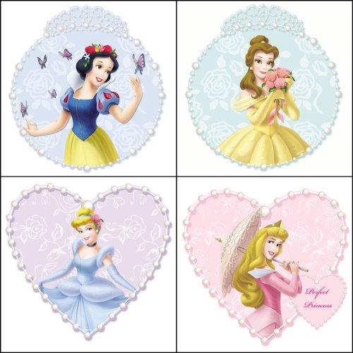 Bleu Mountain revêtements 31720447 Princesse & Perles Lot de 4 plaques mur Art
