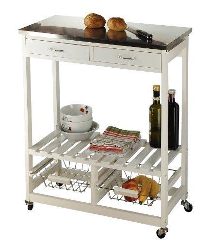 Küchenrollwagen, weiß