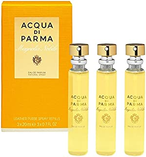 Magnolia Nobile by Acqua Di Parma - Recambio de espray para monedero de piel 3 unidades de 20 ml