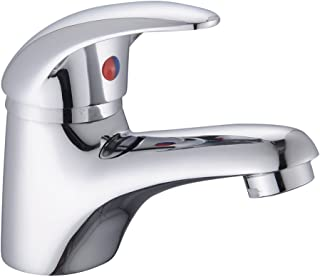 Home Standard Dallas Bathroom Single Lever Chrome Mono Basin Sink Mixer Tap with Slotted Spring Waste | 10 Year Guarantee