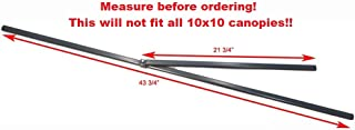 Coleman 10x10 Instant Sun Shelter Canopy & Swingwall-Lower Peak Truss Bar 43 3/4 Replacement Parts