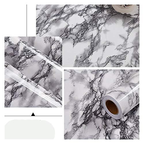 WHYBH HYCSP Selbstklebende Tapete Marmor Aufkleber Wasserdicht Hitzebeständige Küchenarbeitsplatten Tischmöbel Schrank-Wand-Papier (Color : DLS 02, Size : 1m x 40cm)