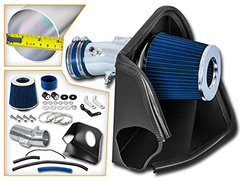 Cold Air Intake System with Heat Shield Kit + Filter Combo BLUE Compatible For 07-12 Nissan Altima 3.5L V6