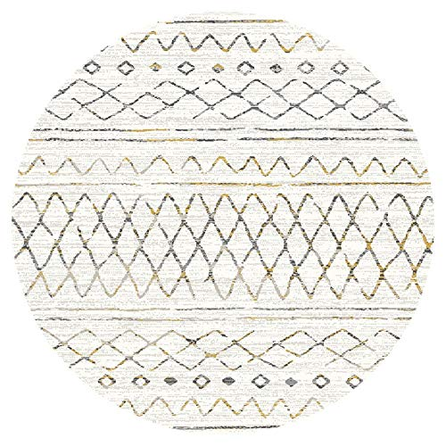 Matta Round Mattan Vardagsrumssoffan Soffbord Runt Filt Sovrum Sänggavel Filt-2,5 Meter I Diameter Mattor för vardagsrum Wuyuana (Color : B, Size : 1 meter in diameter)