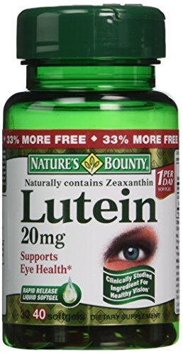 Nature's Bounty Nature's Bounty Lutein 20mg, 40 Softgels (Pack of 4), 40 Count ()