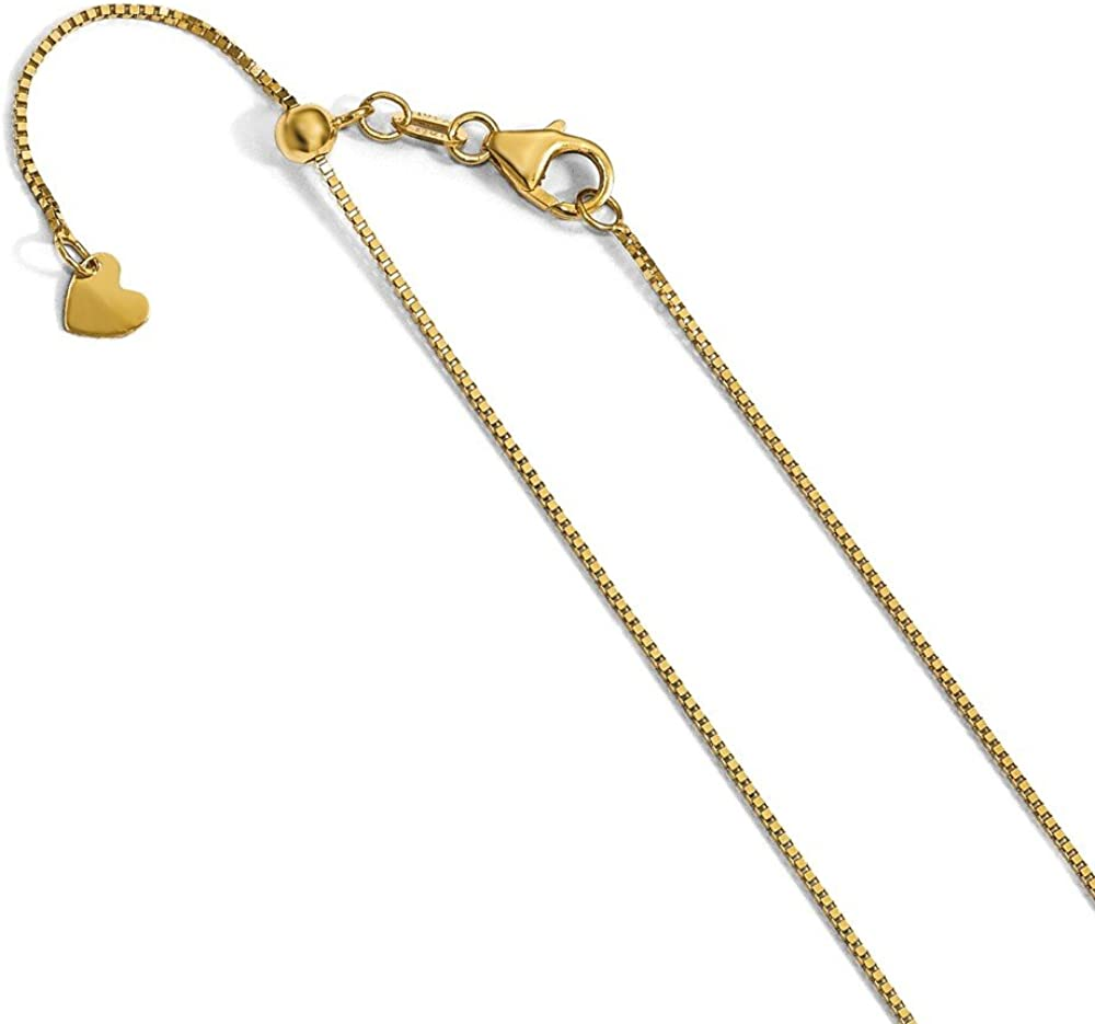 Solid 14k Yellow Gold Adjustable .7mm - Baby Chain Challenge the lowest price of Japan ☆ Box Animer and price revision Necklace