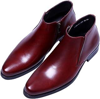 d1262ddd79aa6d Santimon Boots Mens Black Fashion Zipper Dress Leather Shoes