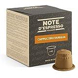 Note d'Espresso Italiano - Cápsulas de capuchino de vainilla instantáneo, Compatible con cafeteras Nespresso, 40 unidades de 5g