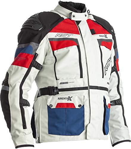 RST Adventure-X Motorrad Textiljacke Weiß/Blau/Rot 52