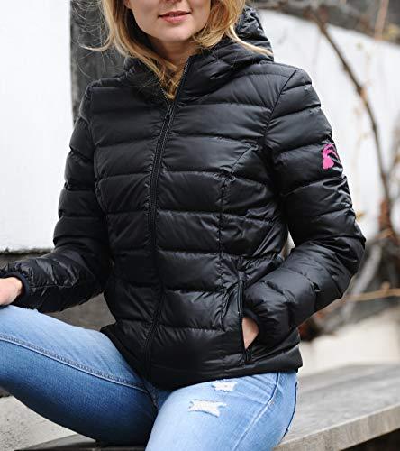 alvivo Damen Daunenjacke schwarz - XL