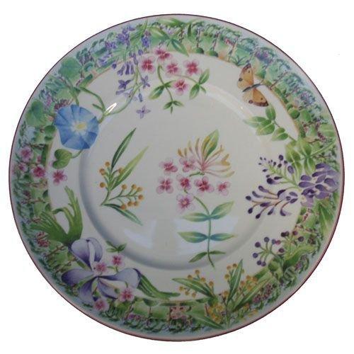 Faïencerie de Niderviller ~ Assiette Plate Ronde Vent de Fleurs faïence - Lot de 4