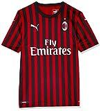 PUMA ACM Home Shirt Replica SS with Sponsor Logo Maillot, Hombre, Tango Red Black, XXL