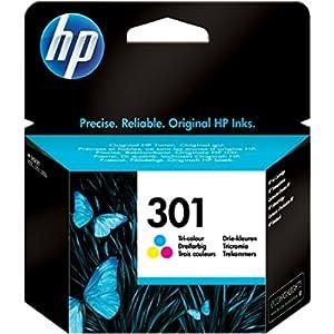 HP 301 CH562EE Cartuccia Originale per Stampanti a Getto di Inchiostro DeskJet 1050, 2540 e 3050, OfficeJet 2620 e 4630, Envy 4500 e 5530, Tricromia