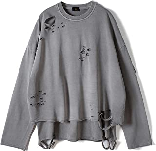 Sponsored Ad - Vintage Streetwear ripped Sweatshirt Men Fashion Autumn Solid Color Oversize Sweatshirt