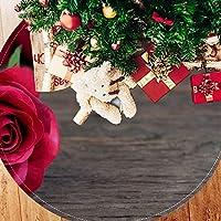 ツリースカート クリスマスツリースカート バラ 写真 きれい ホリデーデコレーション メリイクリスマス飾り 下敷物 可愛い 雰囲気 クリスマスパーティー 直径107cm