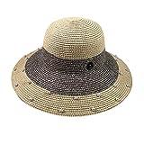 HCFKJ Sombrero De Paja De Playa Unisex Jazz Sunshade Panama Hat Gangster Cap