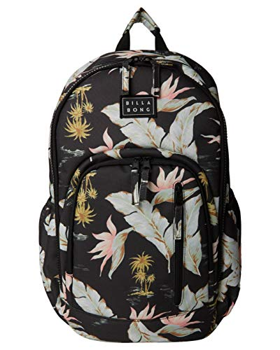 Billabong Women's Roadie Backpack, Black/Mint, One Size