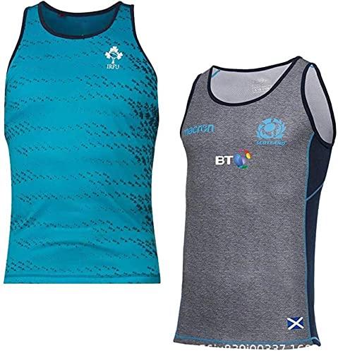 LQWW Sport-Fan-Trikots, Weltcups Rugby Polo, 19 Irish Rugby Weste Herren Sportweste (Color : Gray, Size : XL)