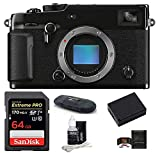 Fujifilm X-Pro3 Mirrorless Digital Camera Body (Black) Bundle, Includes: SanDisk 64GB Extreme PRO SDXC Memory Card + Spare Battery + More (6 Items)